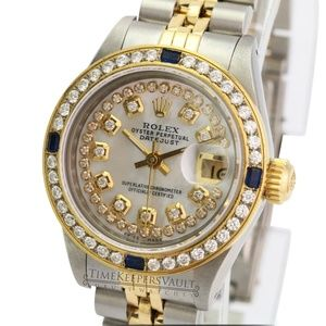 Rolex Lady Datejust White MOP Diamond Dial 26mm